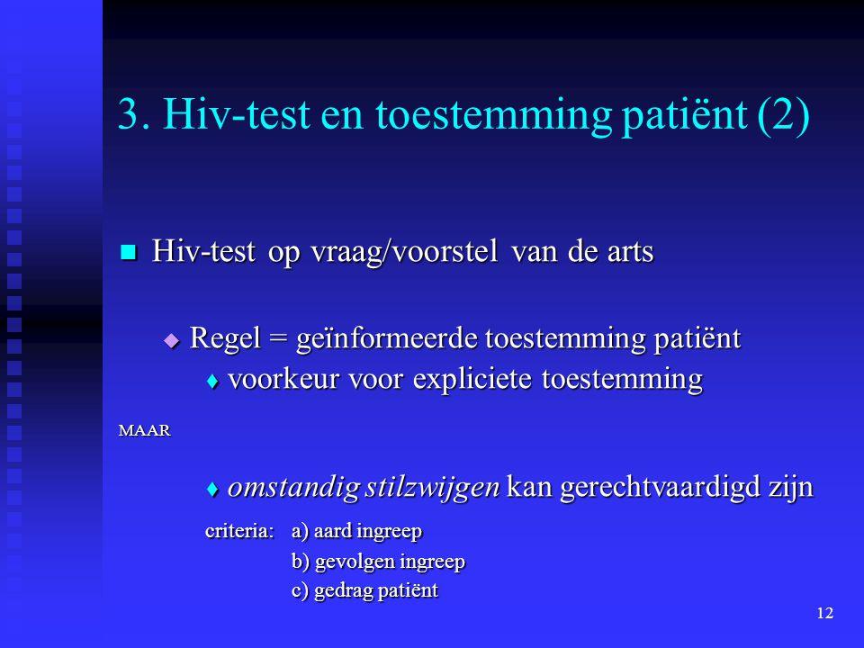 3. Hiv-test en toestemming patiënt (2)