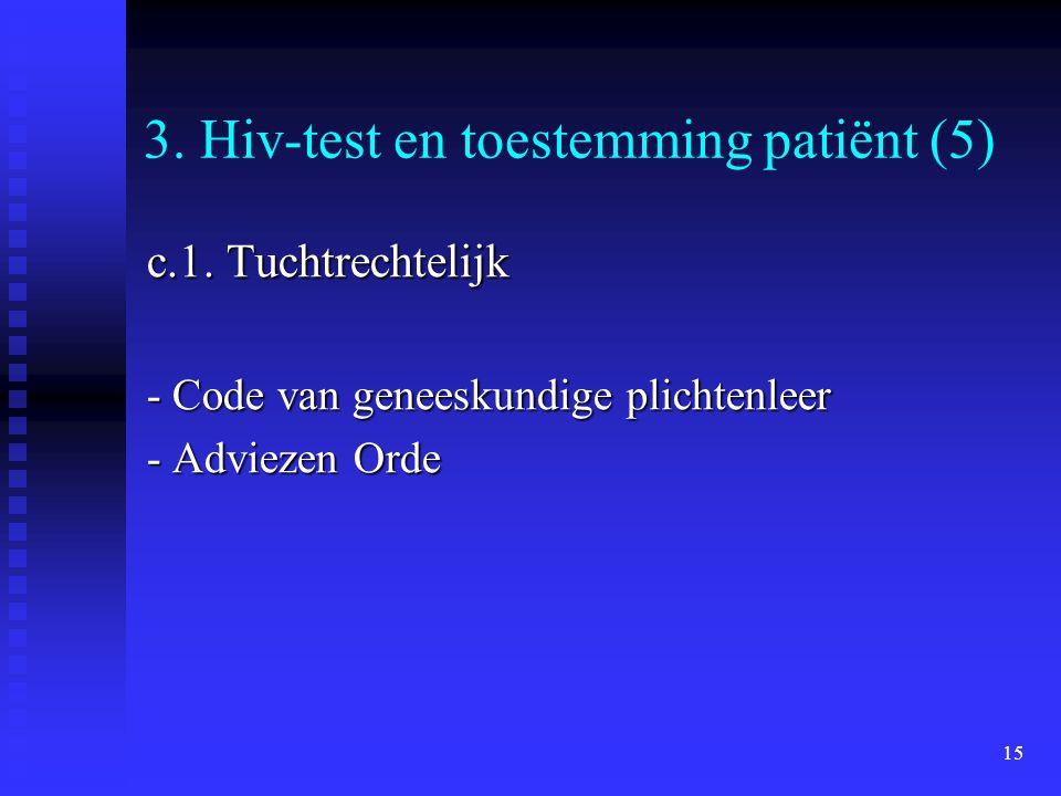 3. Hiv-test en toestemming patiënt (5)