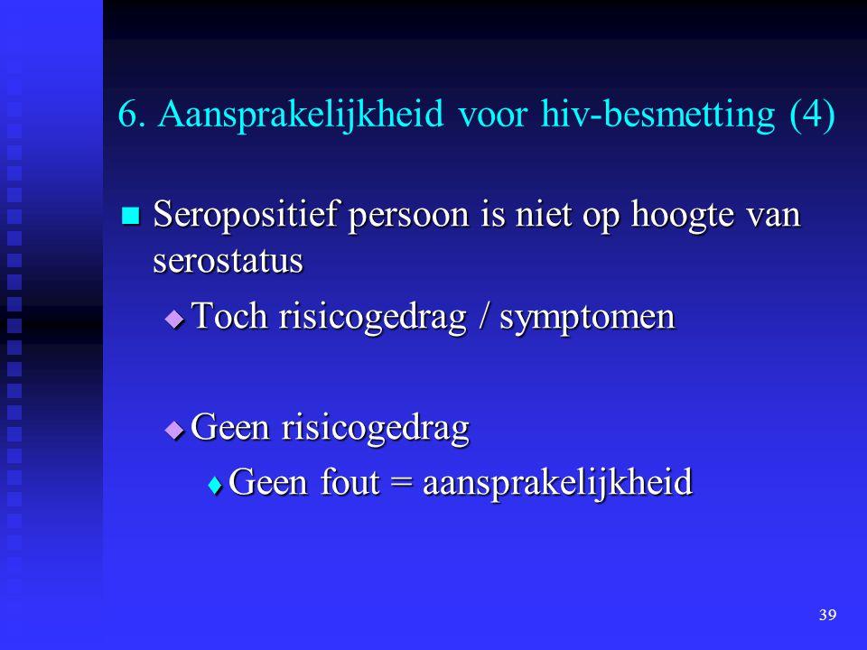6. Aansprakelijkheid voor hiv-besmetting (4)