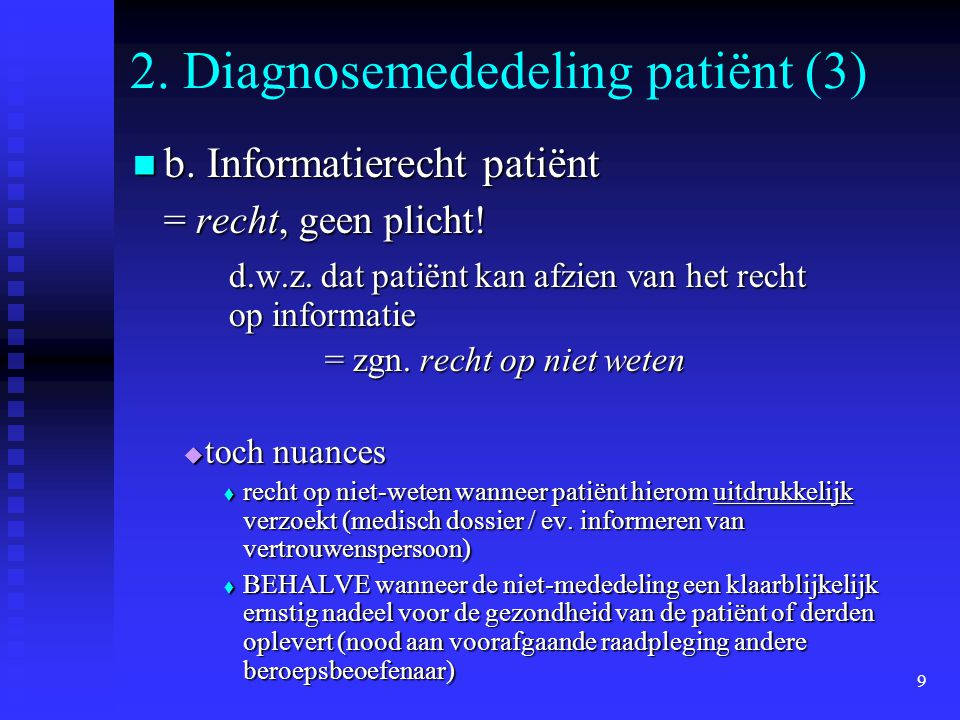 2. Diagnosemededeling patiënt (3)