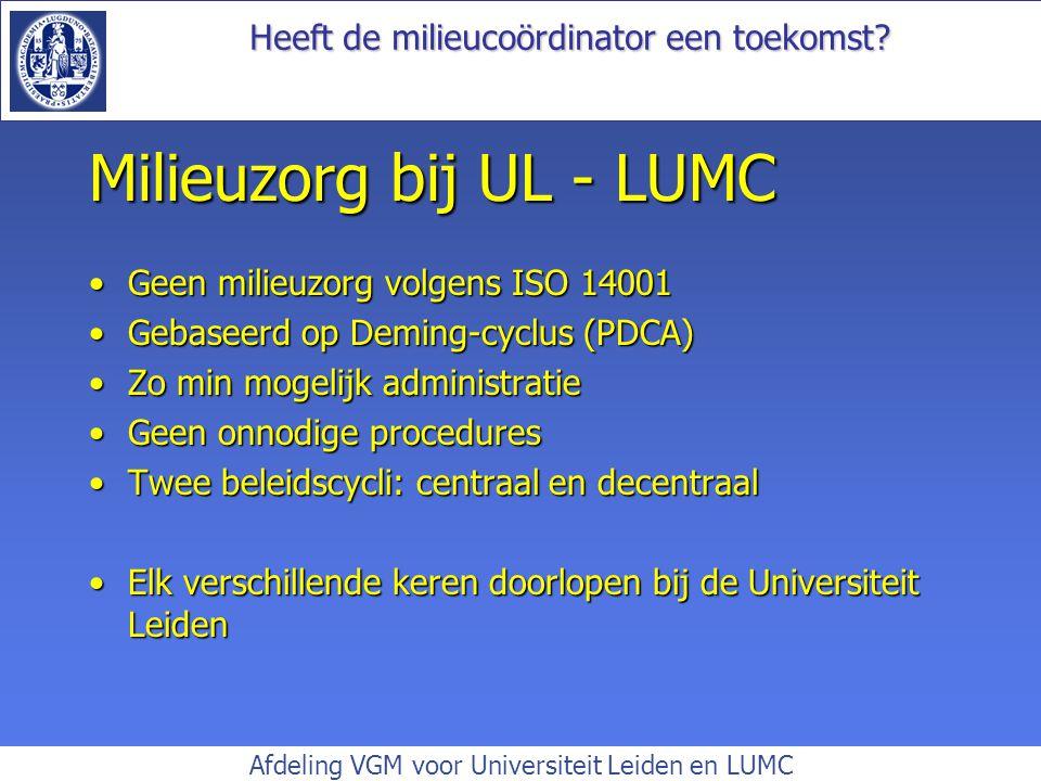 Milieuzorg bij UL - LUMC