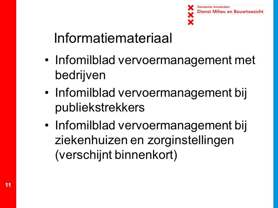 Informatiemateriaal Infomilblad vervoermanagement met bedrijven