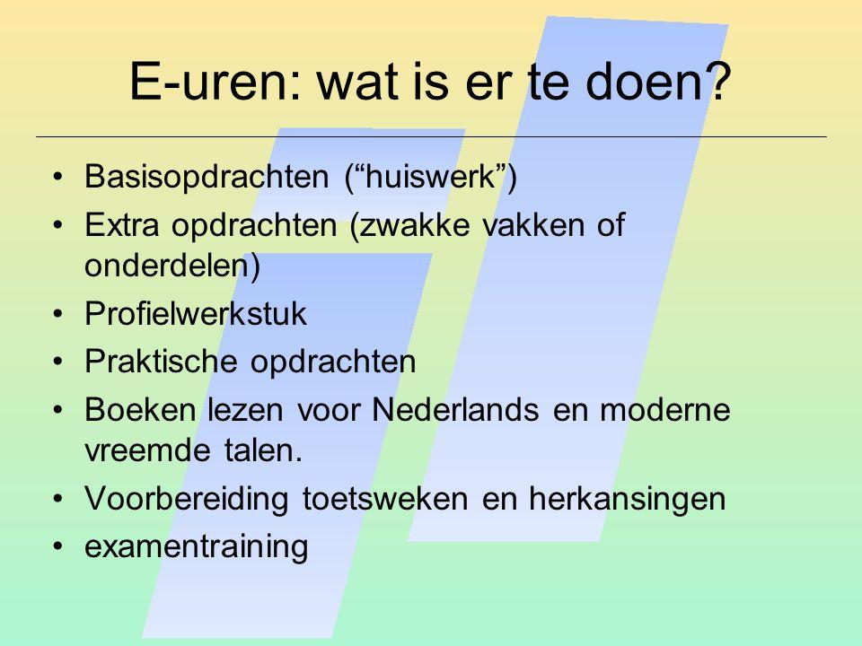 E-uren: wat is er te doen