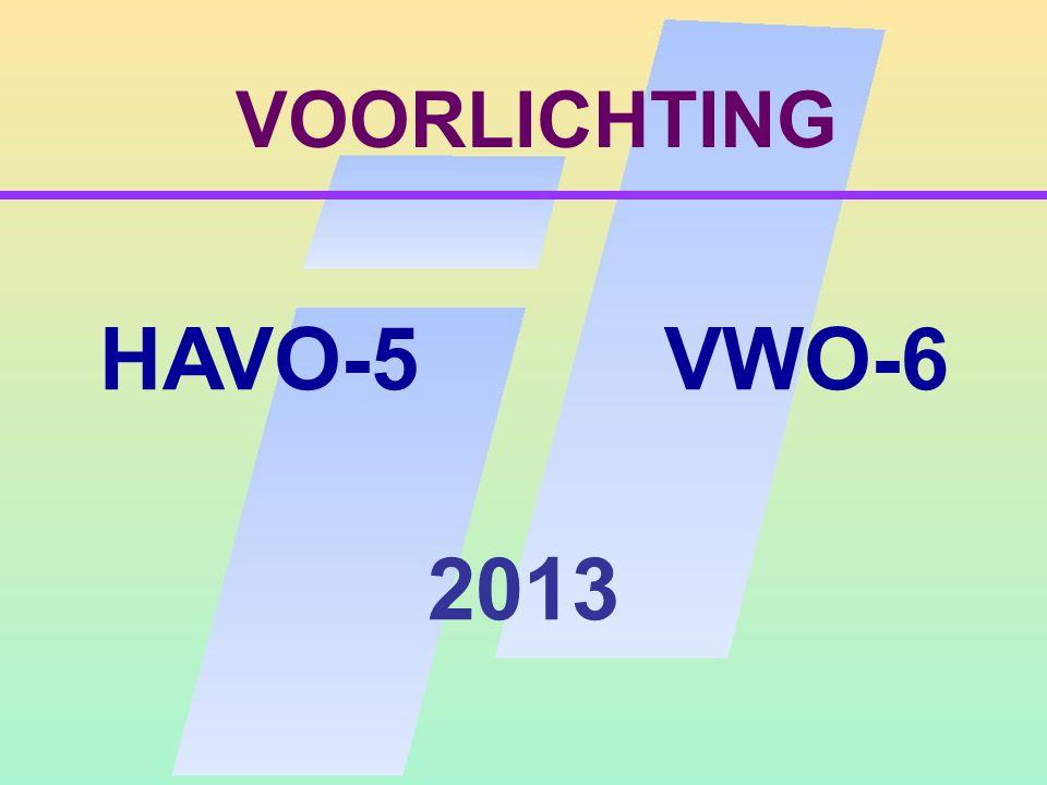 VOORLICHTING HAVO-5 VWO-6 2013