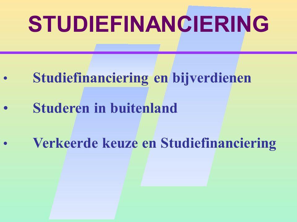STUDIEFINANCIERING Studeren in buitenland