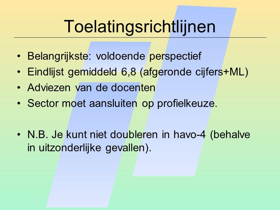 Toelatingsrichtlijnen
