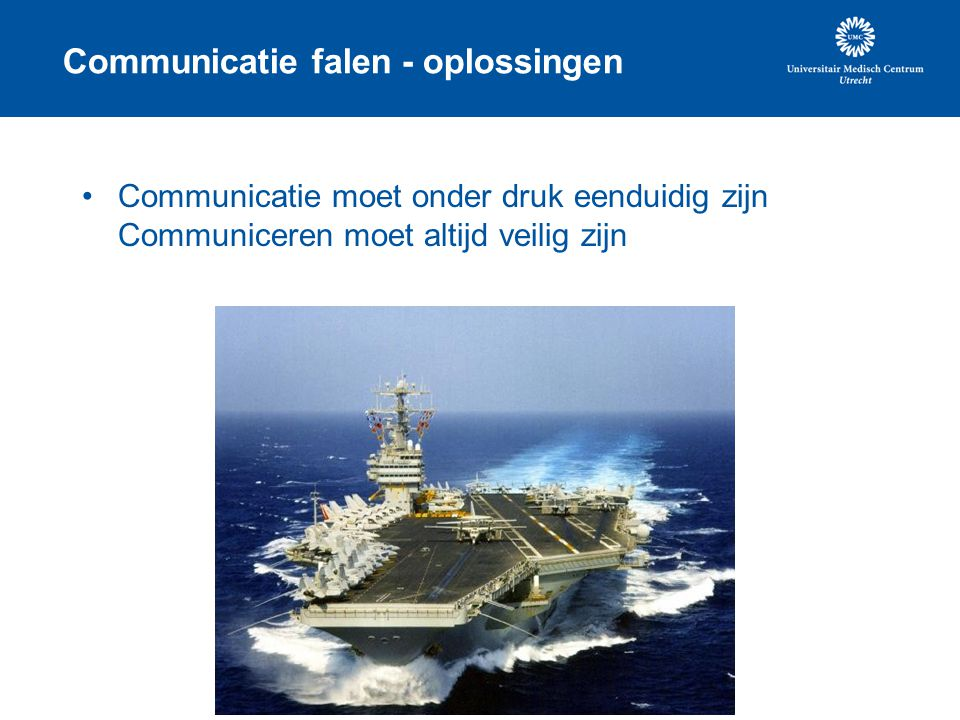Communicatie falen - oplossingen