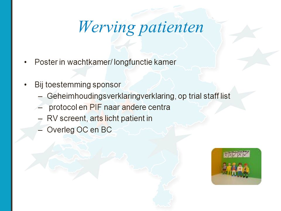 Werving patienten Poster in wachtkamer/ longfunctie kamer
