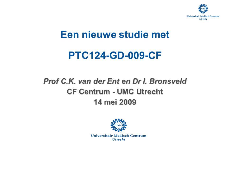 Prof C.K. van der Ent en Dr I. Bronsveld CF Centrum - UMC Utrecht