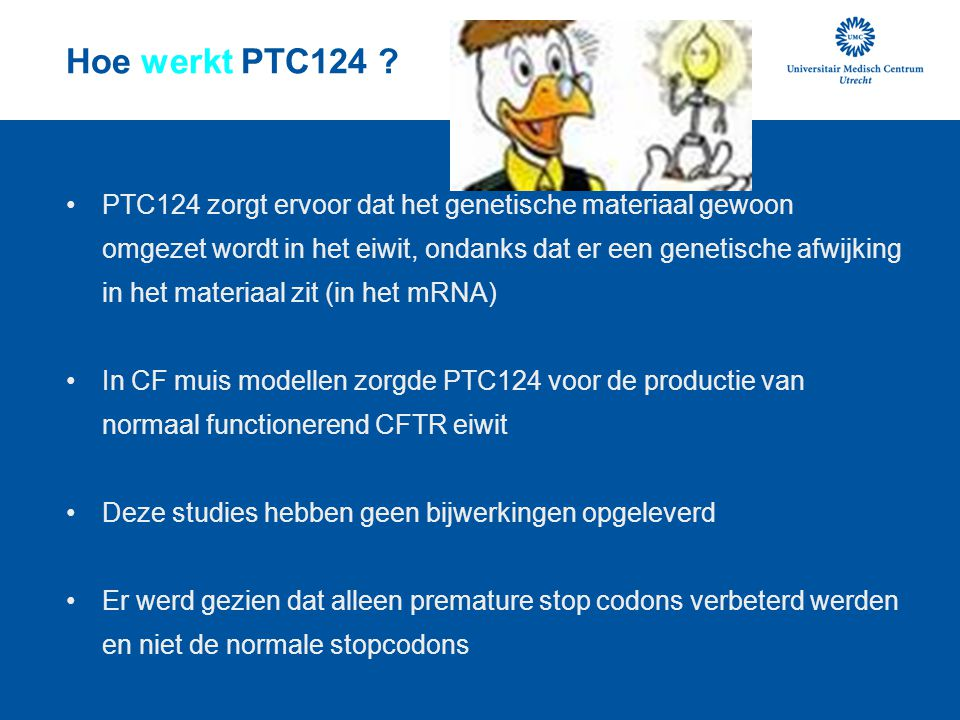 Hoe werkt PTC124