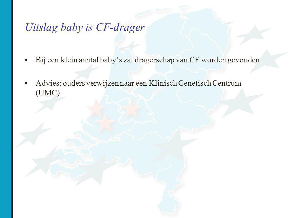 Uitslag baby is CF-drager
