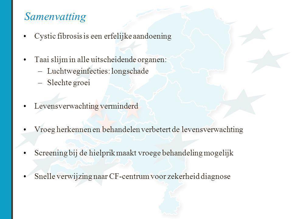 Samenvatting Cystic fibrosis is een erfelijke aandoening