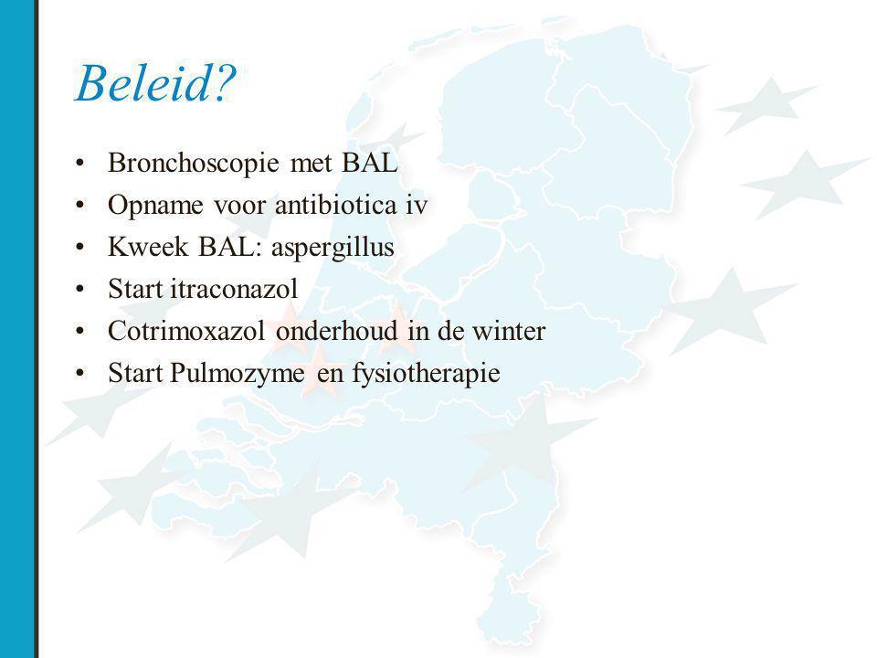 Beleid Bronchoscopie met BAL Opname voor antibiotica iv