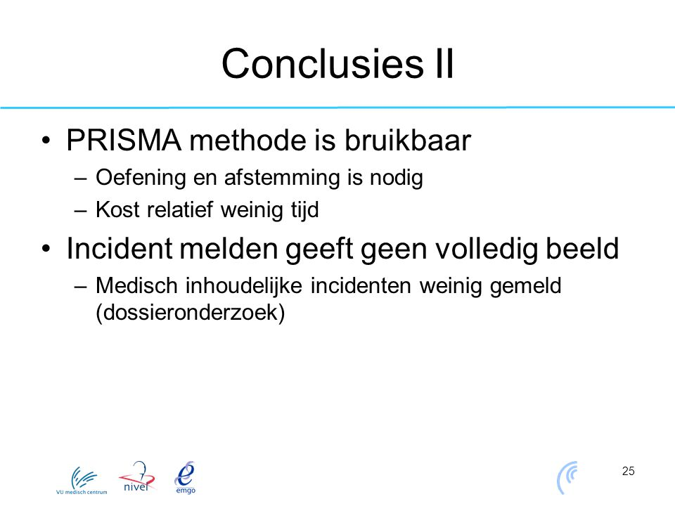 Conclusies II PRISMA methode is bruikbaar