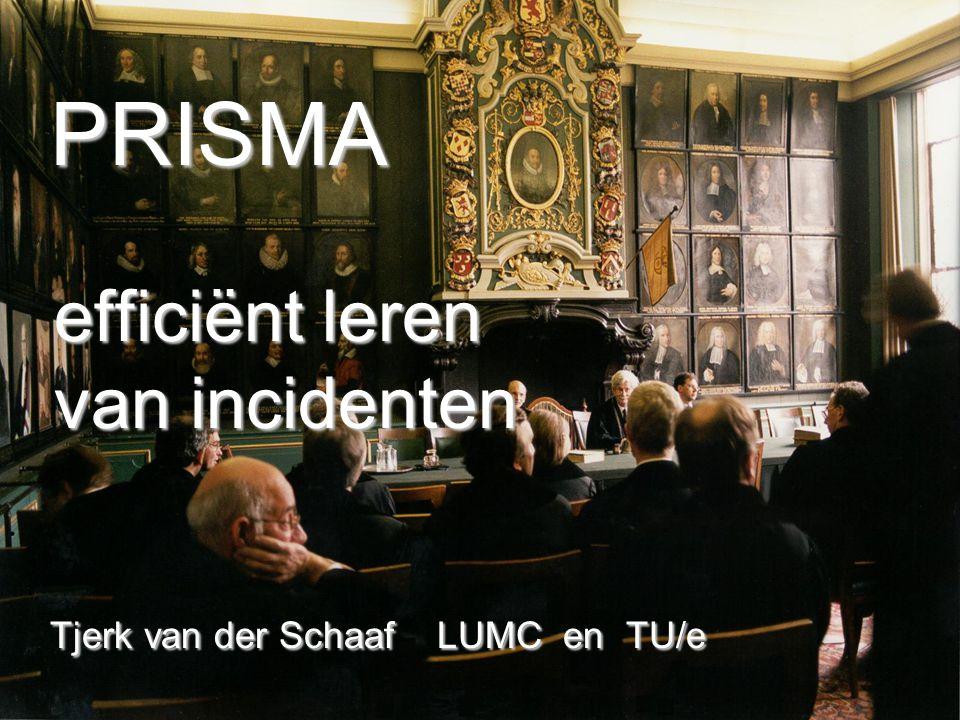 PRISMA efficiënt leren van incidenten Tjerk van der Schaaf LUMC en TU/e