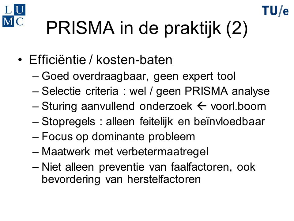 PRISMA in de praktijk (2)