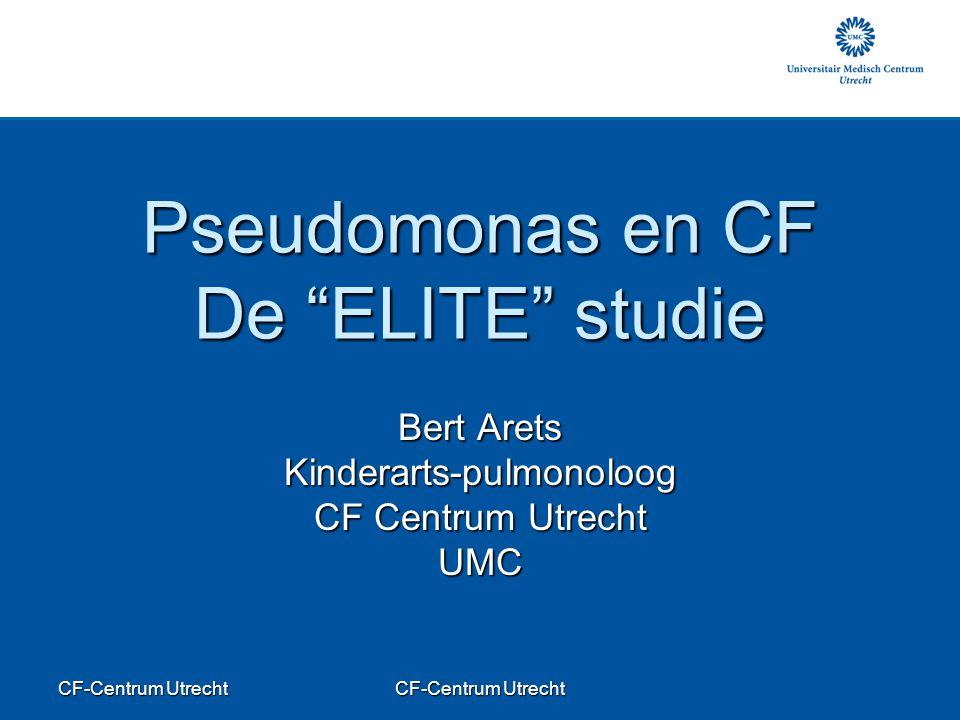Pseudomonas en CF De ELITE studie