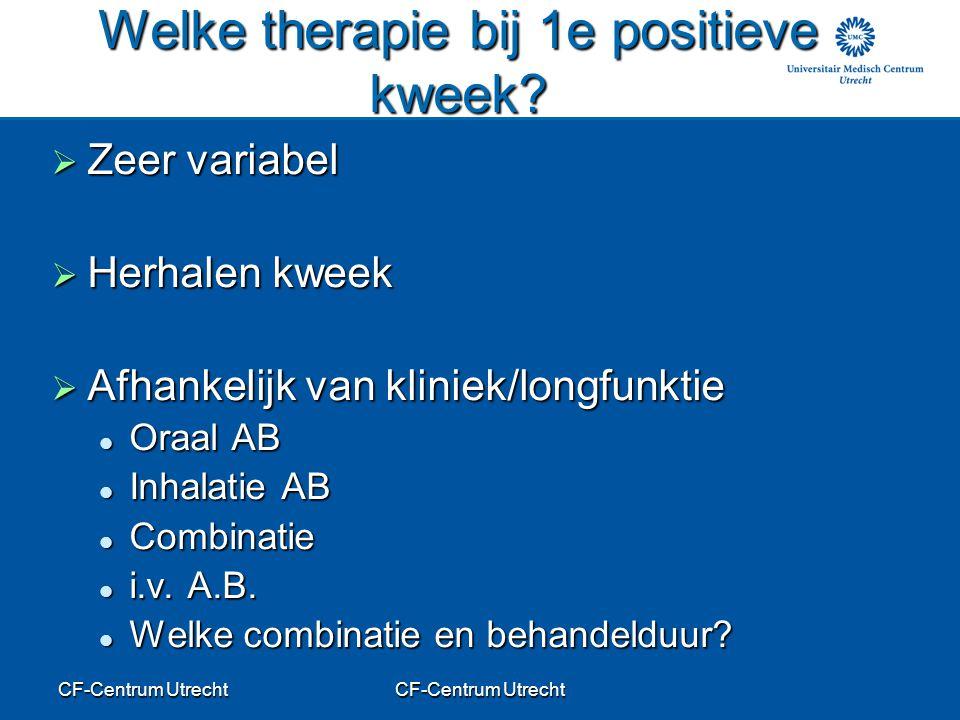 Welke therapie bij 1e positieve kweek