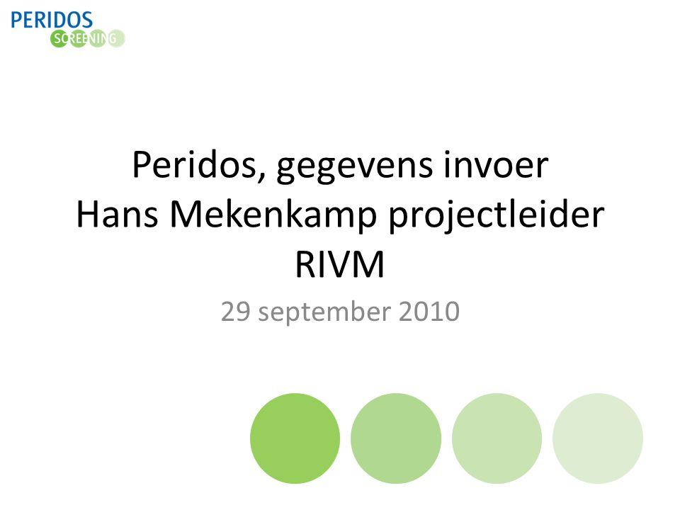 Peridos, gegevens invoer Hans Mekenkamp projectleider RIVM
