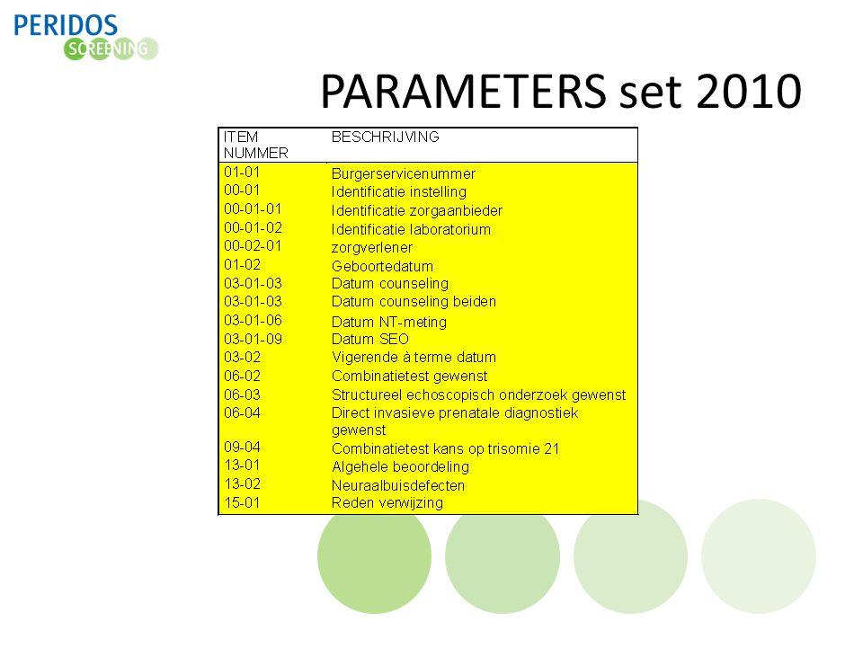 PARAMETERS set 2010
