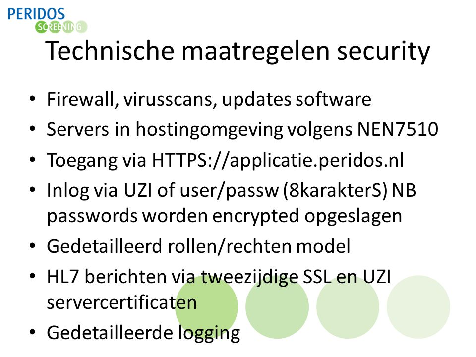 Technische maatregelen security