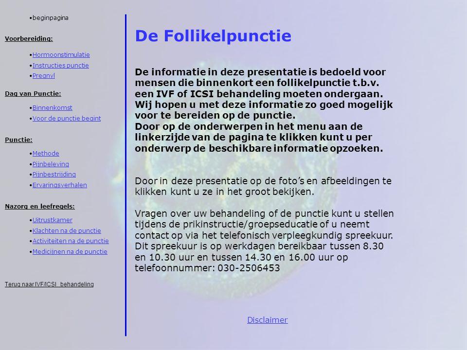 beginpagina De Follikelpunctie.