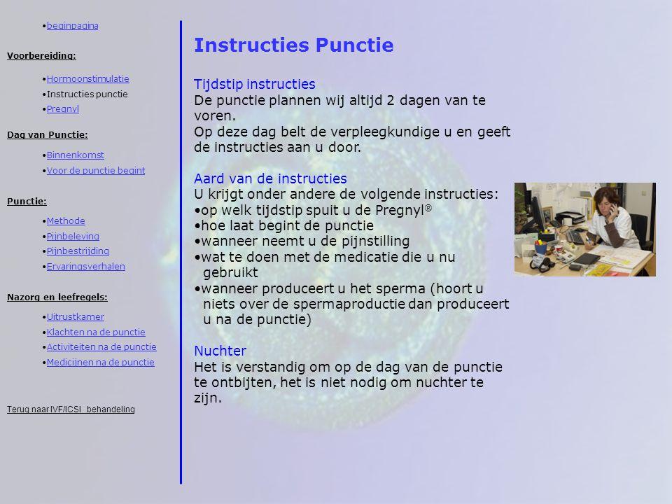 Instructies Punctie Tijdstip instructies