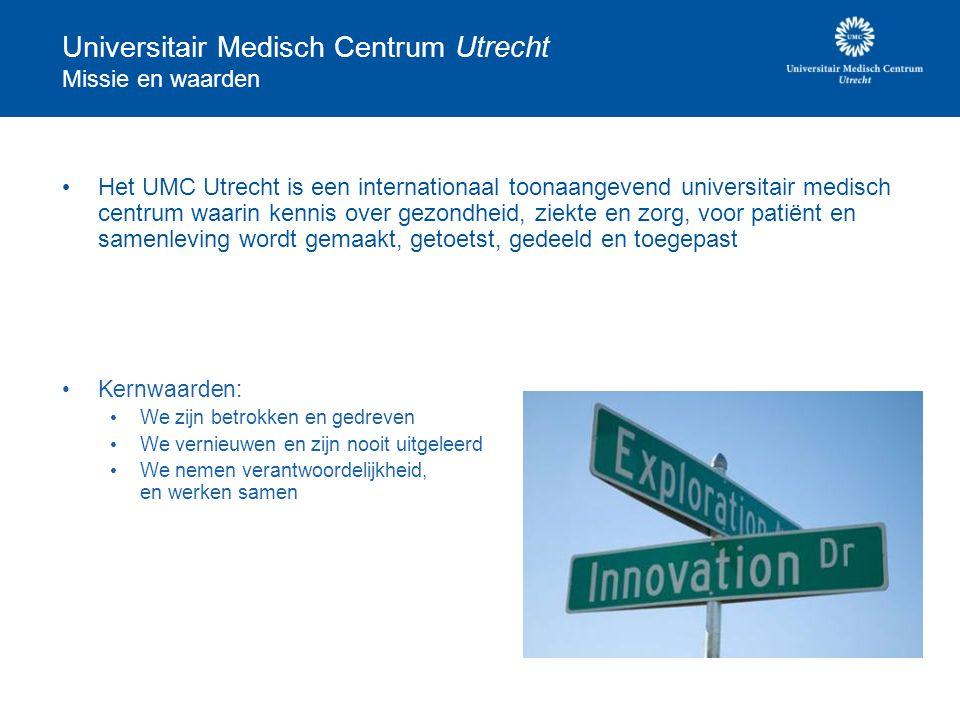 Universitair Medisch Centrum Utrecht Missie en waarden