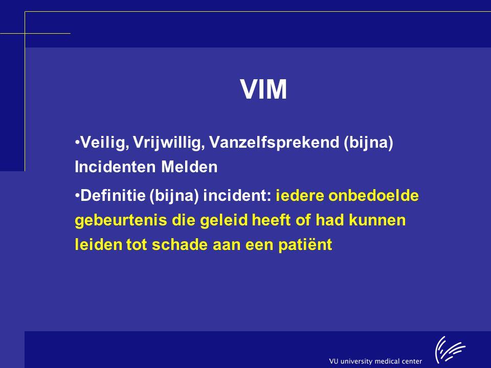 VIM Veilig, Vrijwillig, Vanzelfsprekend (bijna) Incidenten Melden
