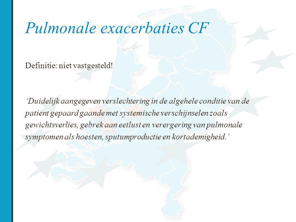 Pulmonale exacerbaties CF