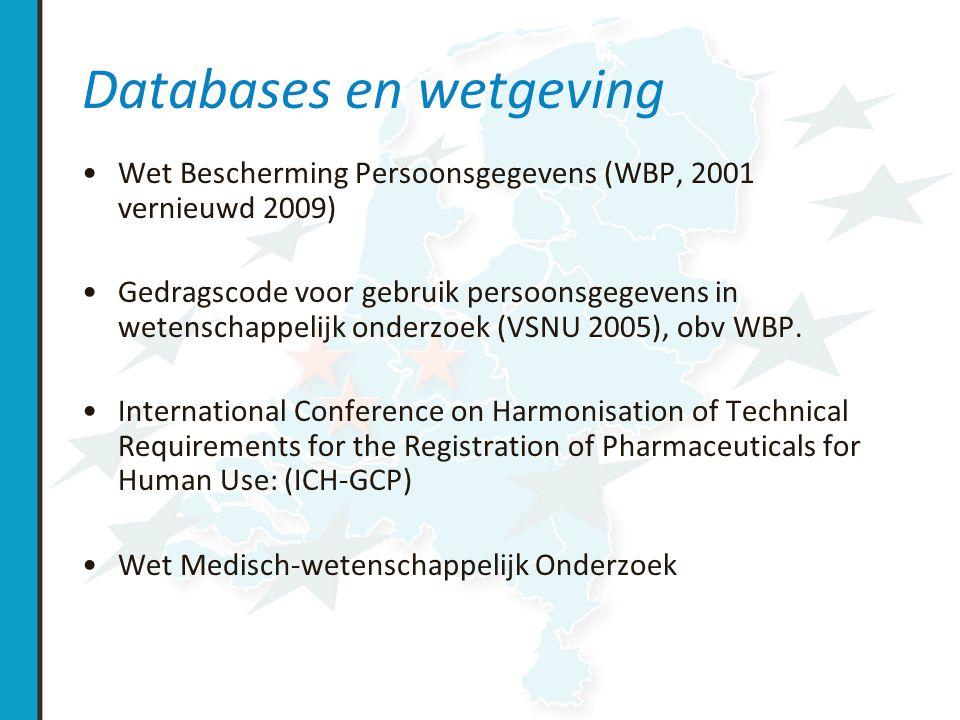Databases en wetgeving