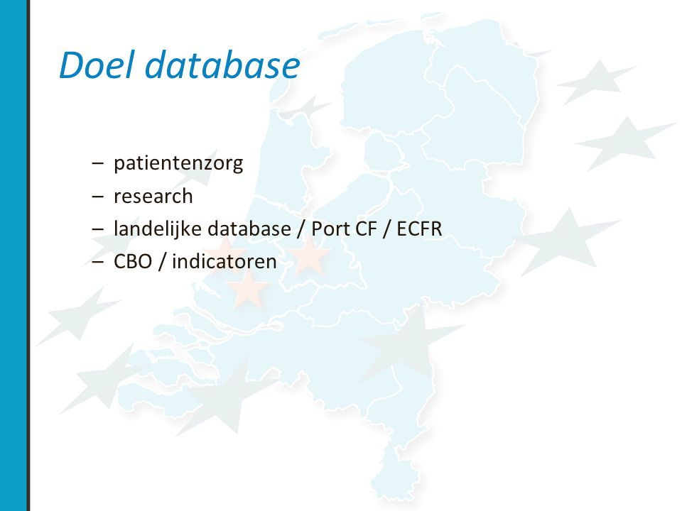 Doel database patientenzorg research