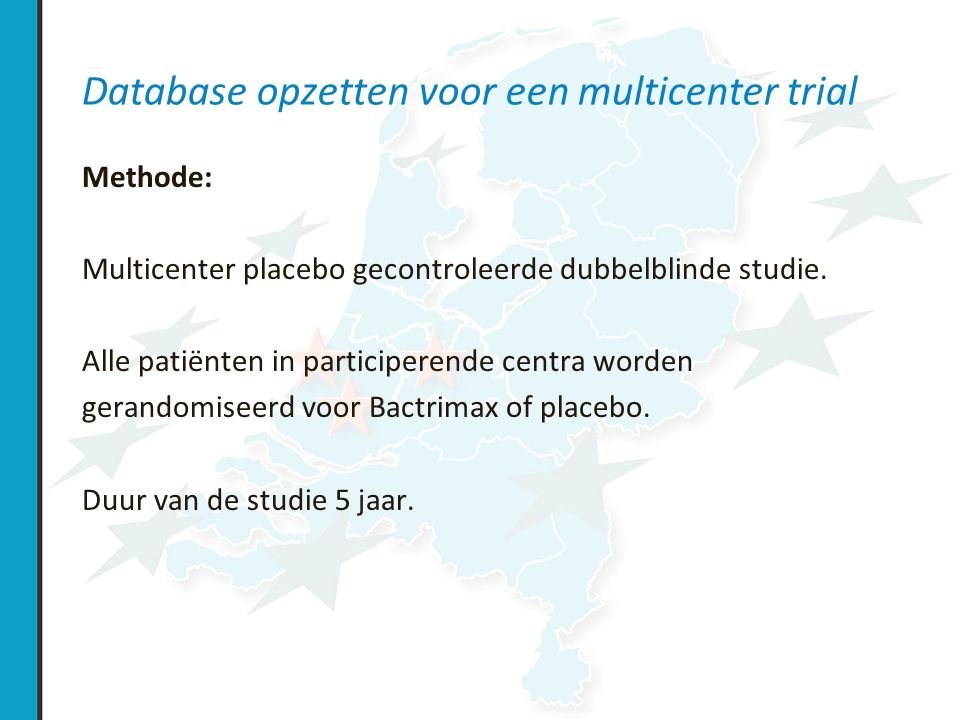 Database opzetten voor een multicenter trial