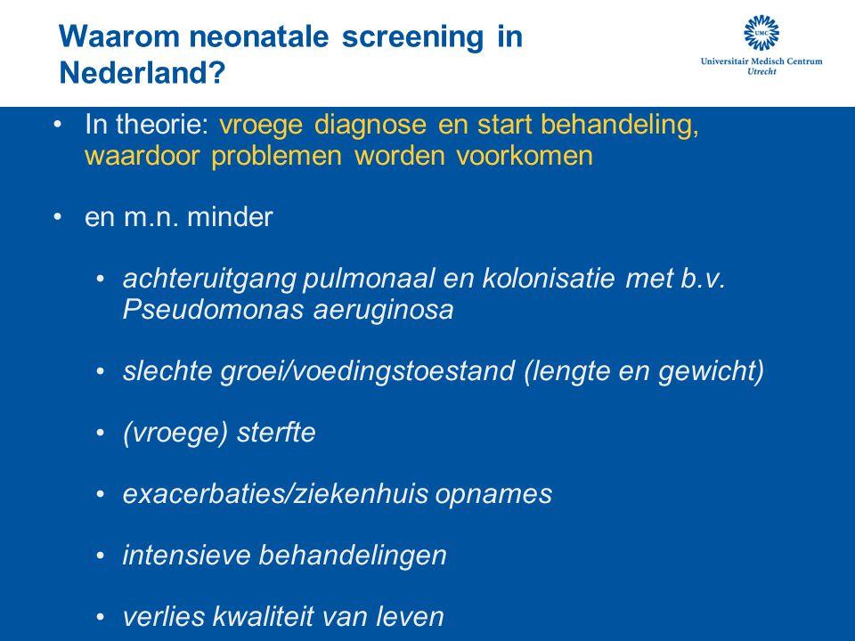 Waarom neonatale screening in Nederland