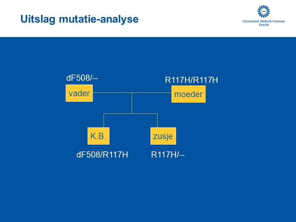 Uitslag mutatie-analyse
