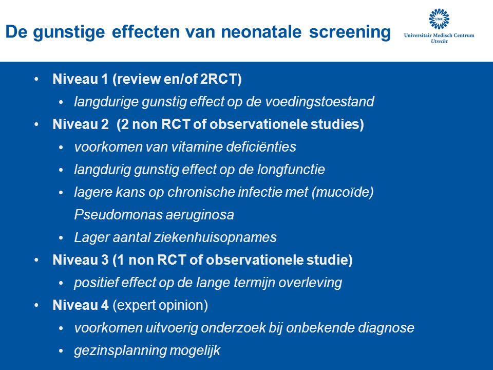 De gunstige effecten van neonatale screening