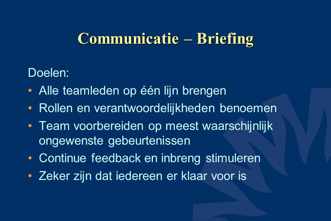 Communicatie – Briefing