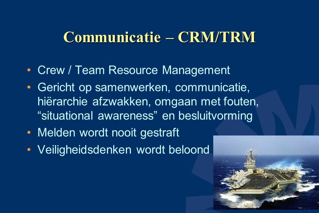 Communicatie – CRM/TRM