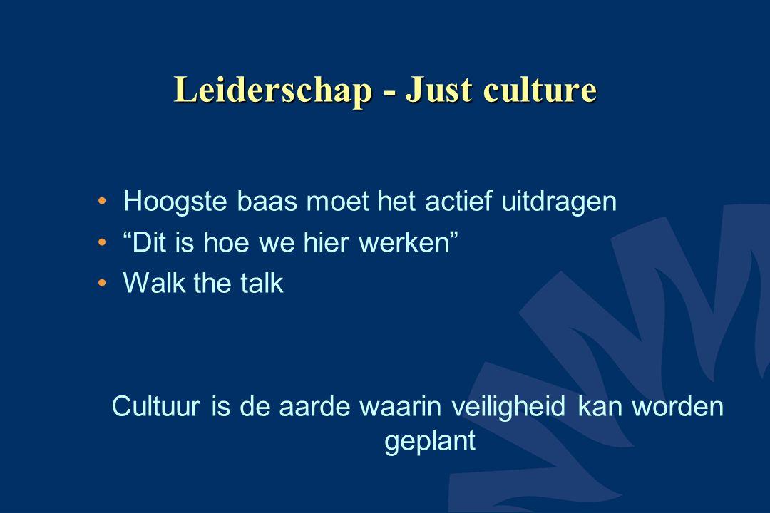 Leiderschap - Just culture