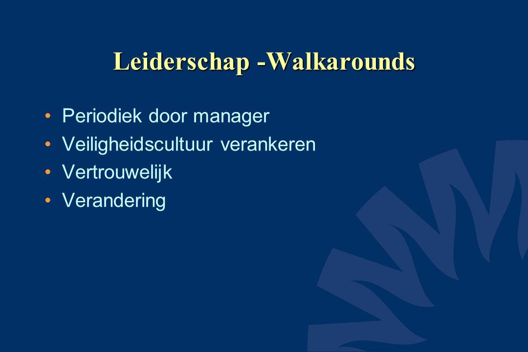 Leiderschap -Walkarounds