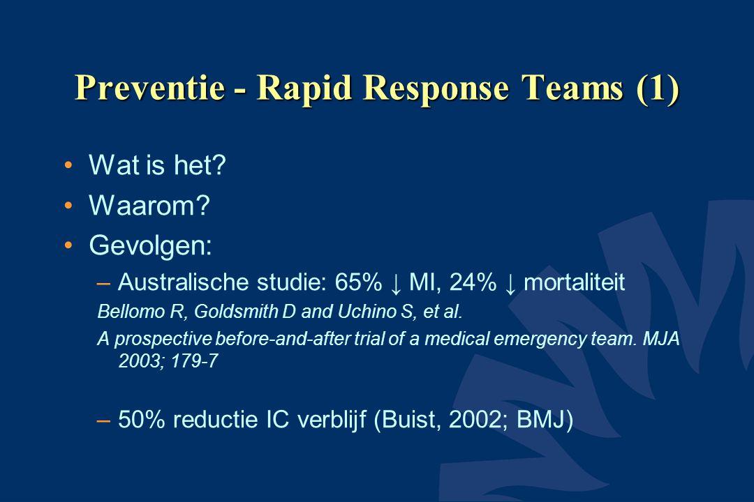 Preventie - Rapid Response Teams (1)
