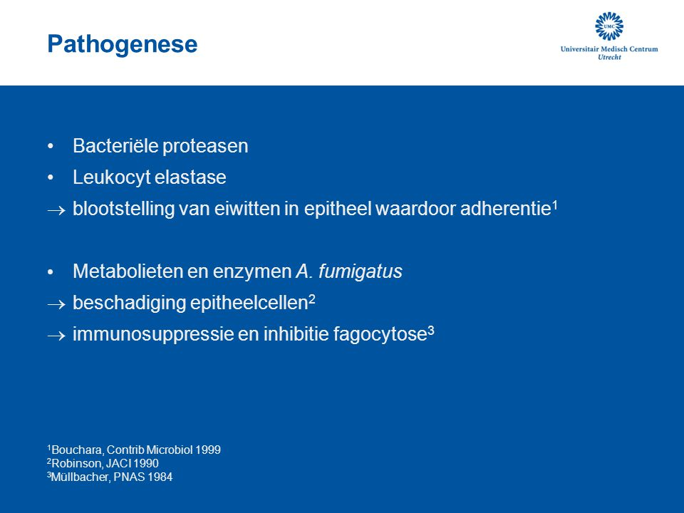 Pathogenese Bacteriële proteasen Leukocyt elastase