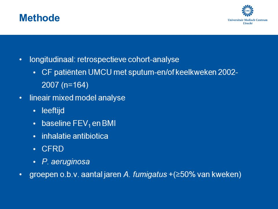 Methode longitudinaal: retrospectieve cohort-analyse