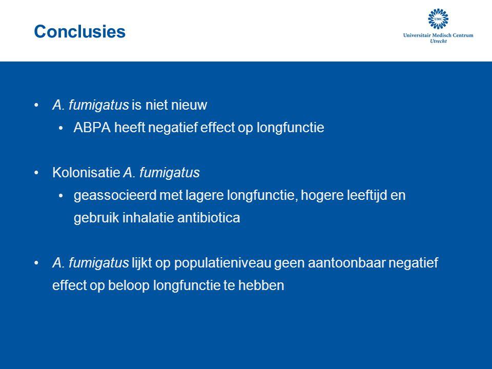 Conclusies A. fumigatus is niet nieuw