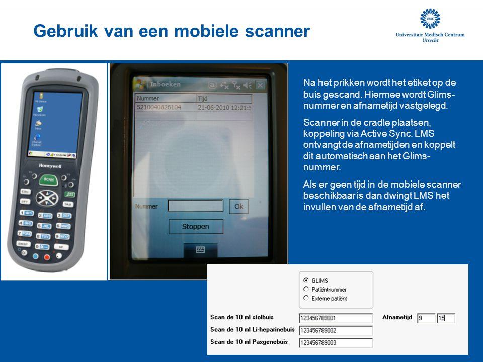 Gebruik van een mobiele scanner