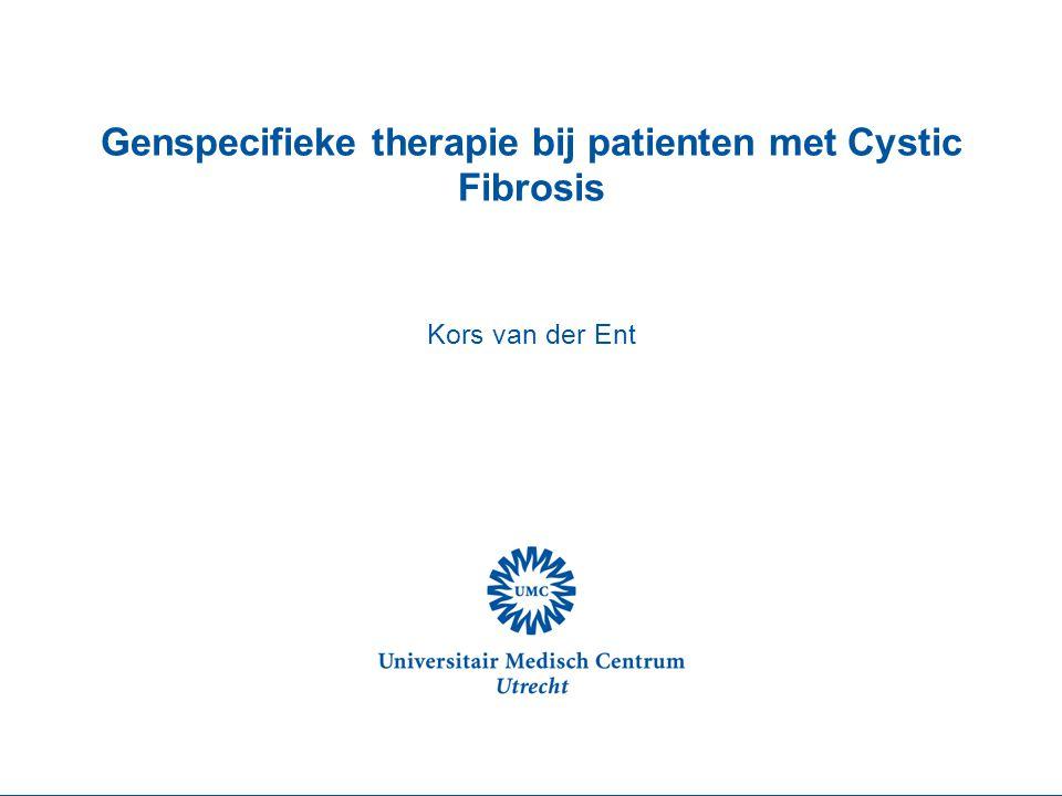 Genspecifieke therapie bij patienten met Cystic Fibrosis