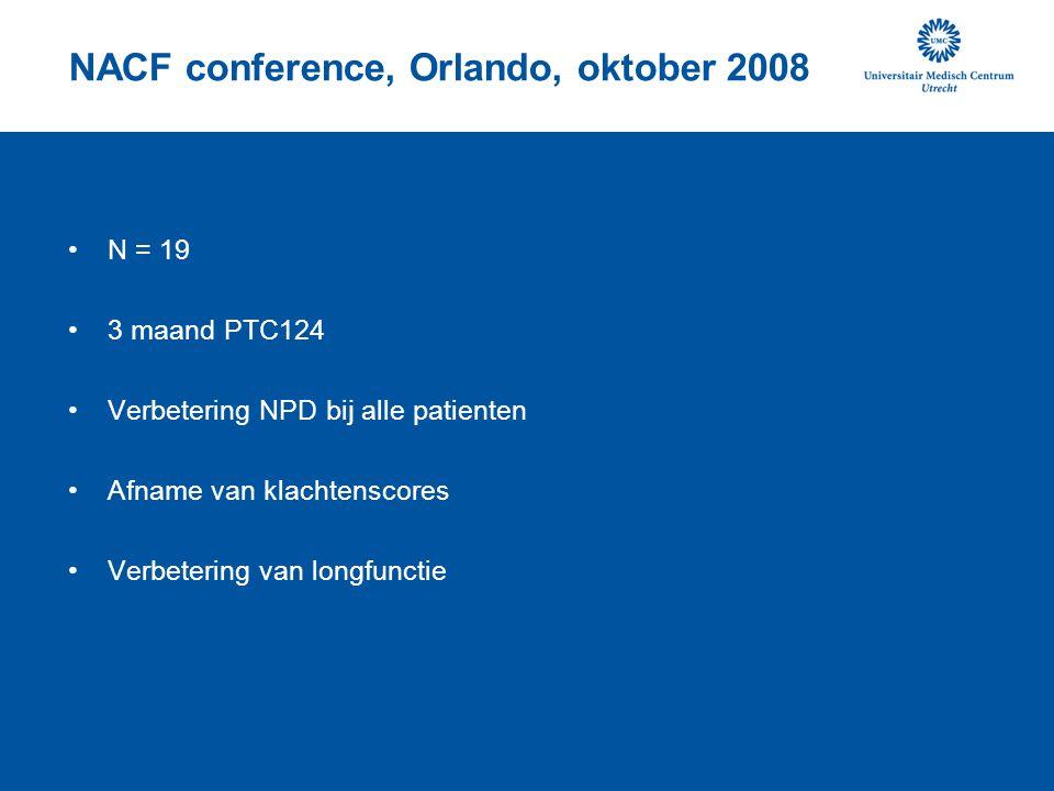 NACF conference, Orlando, oktober 2008