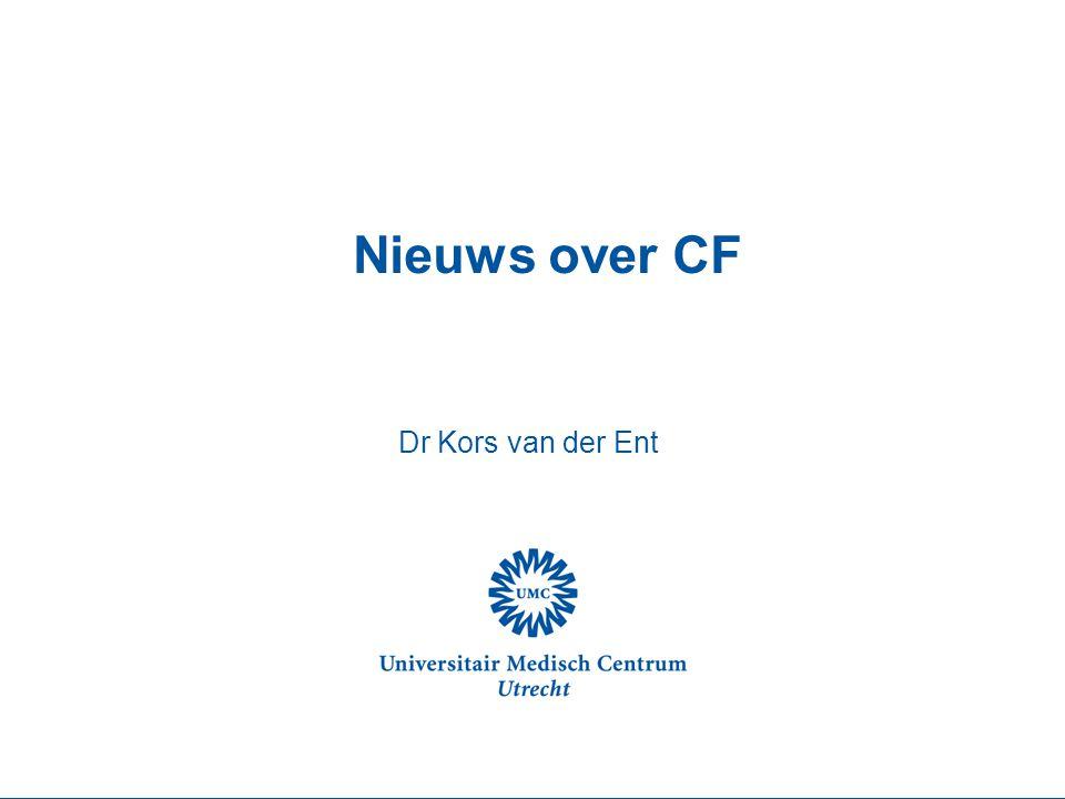 Nieuws over CF Dr Kors van der Ent CF-Centrum Utrecht