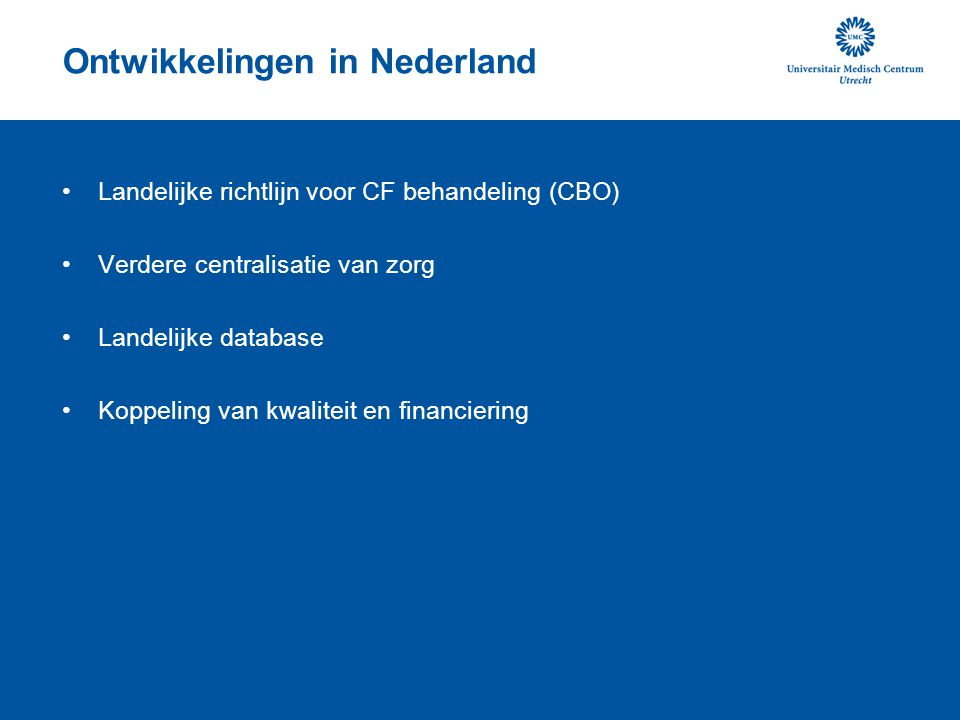 Ontwikkelingen in Nederland
