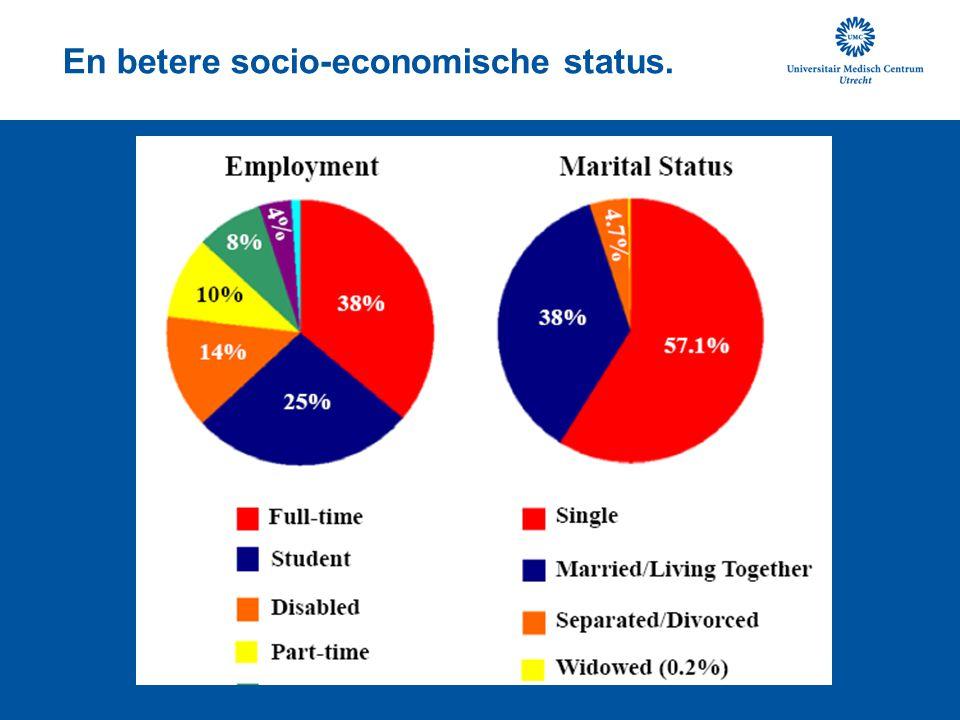En betere socio-economische status.